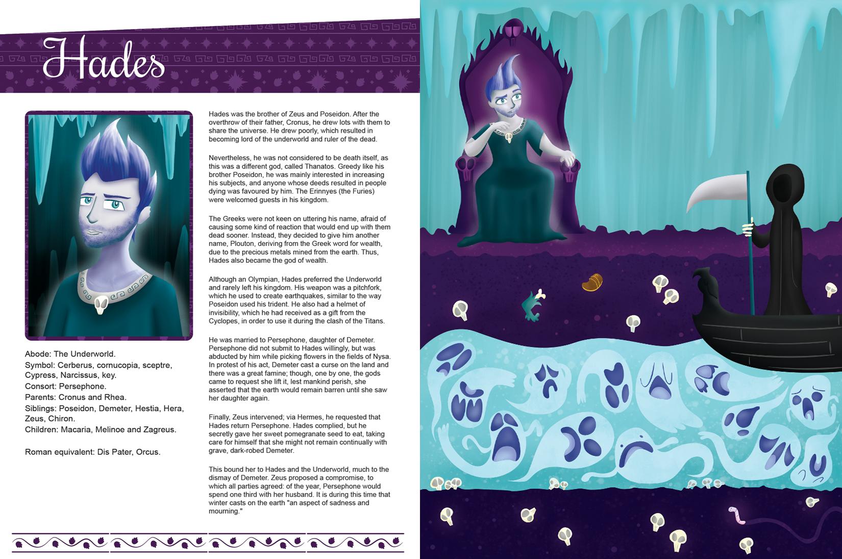 greek gods and goddesses children u0027s book on behance