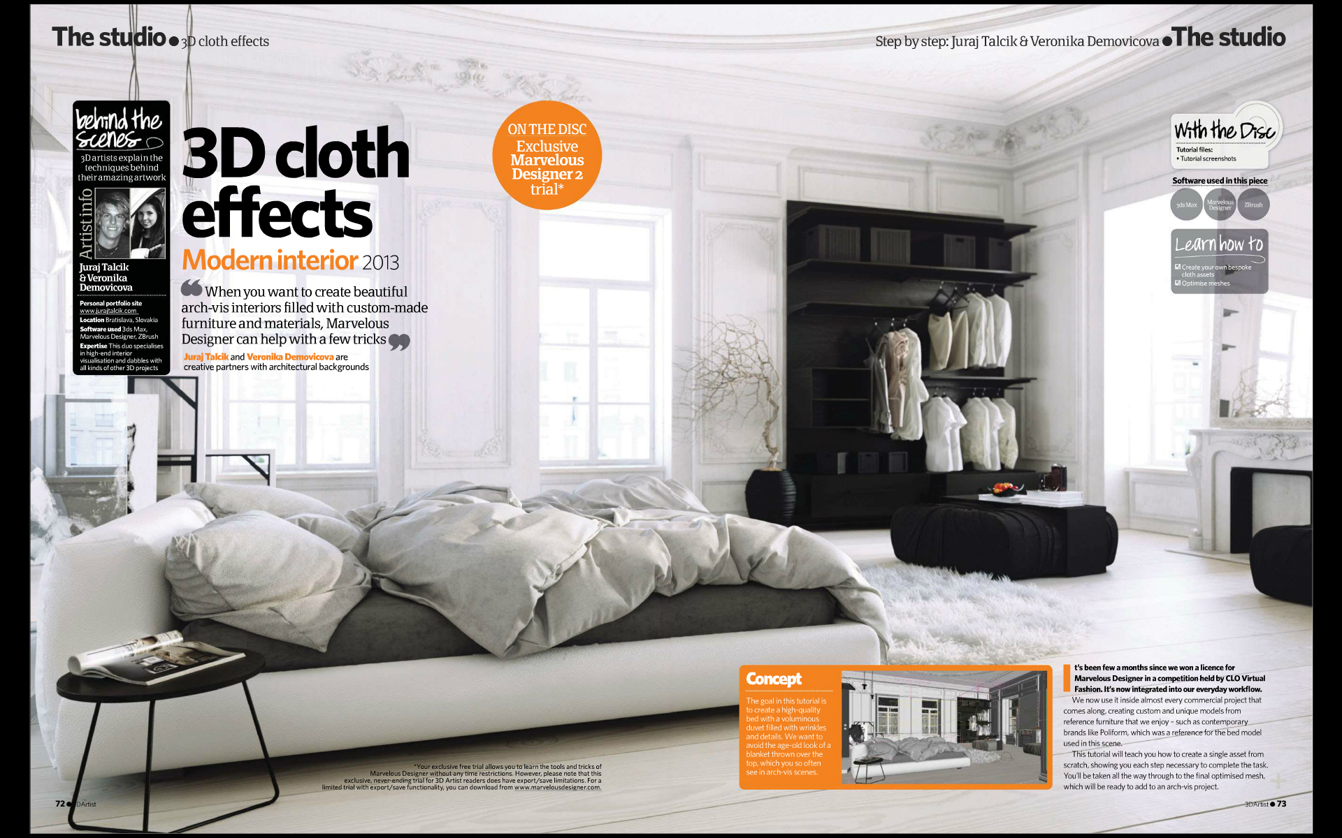 White Bedroom   MarvelousDesigner Tutorial For 3dArtist On Behance