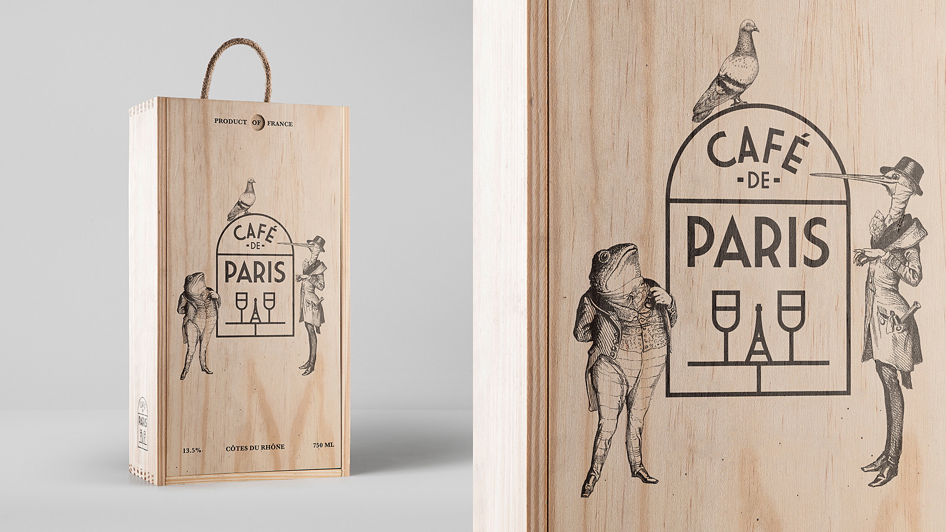 Cafe De Paris Logo Brand Identity On Behance