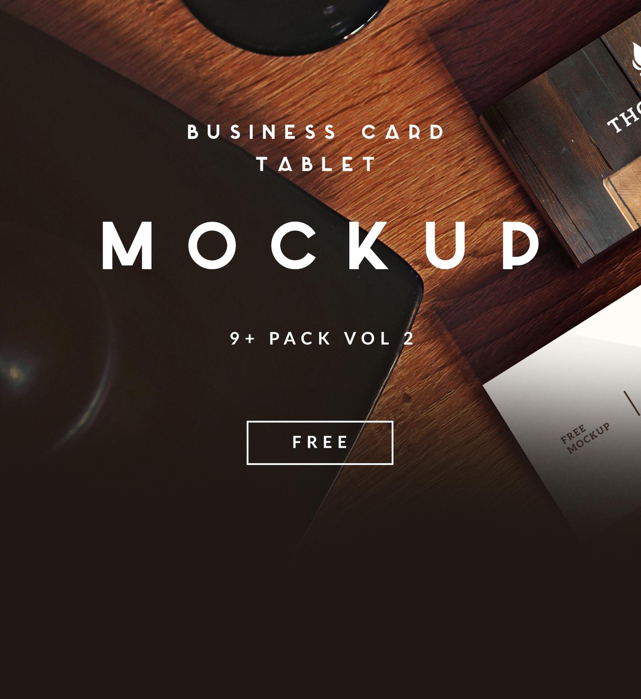9 Business Card Tablet Free Mockup Vol 2 Download On