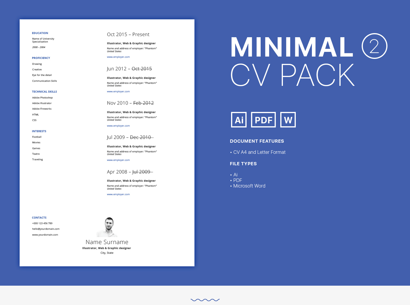 free cv packs on behance