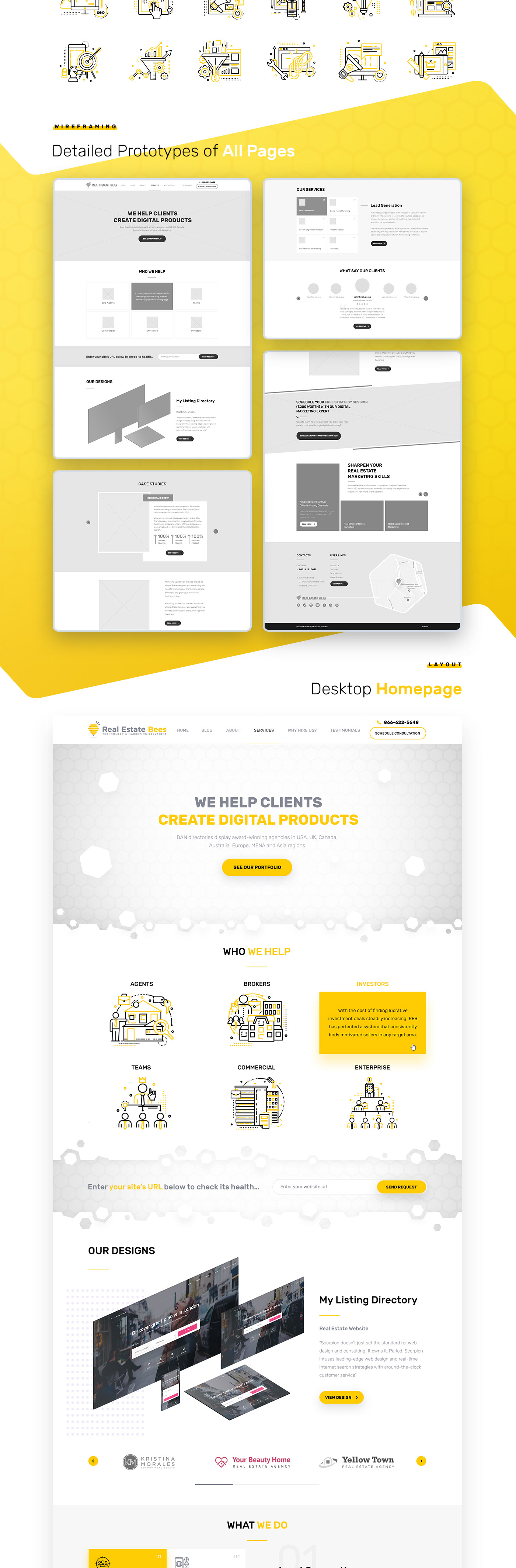 Real Estate Bees — Web Agency (UX/UI) on Behance