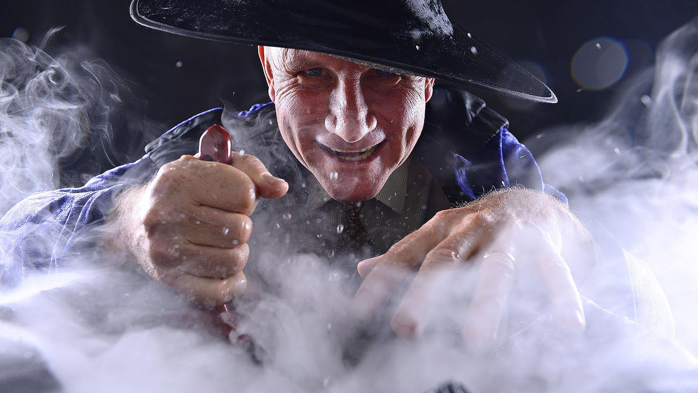 Former Attorney-General and Minister for Justice, John Elferink MLA, gets his witch on as he looks at abolishing old witch laws