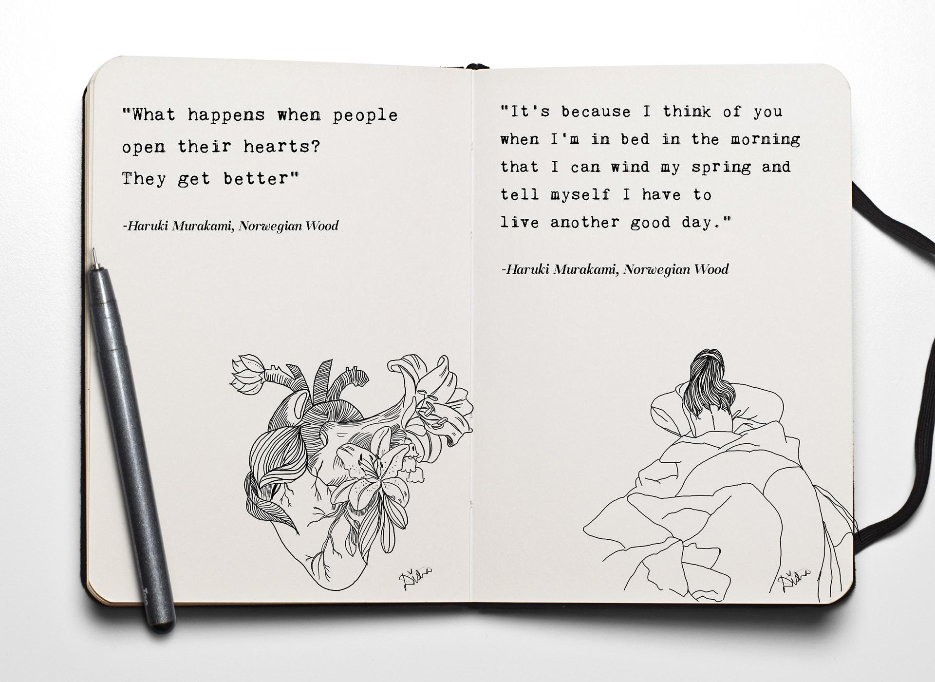 Haruki Murakami Quotes On Behance