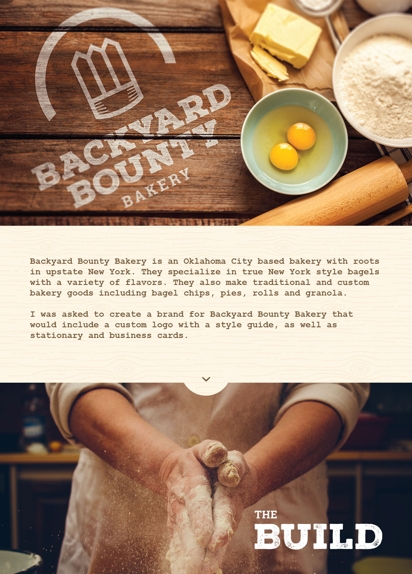 backyard bounty bakery on behance