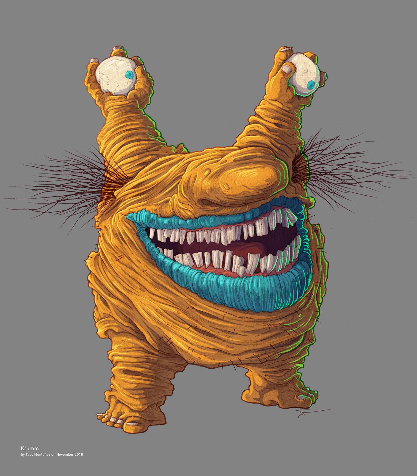 Cartoon Monsters On Behance