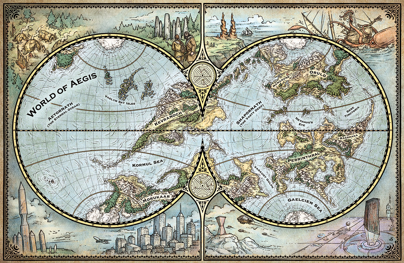World of Aegis Map