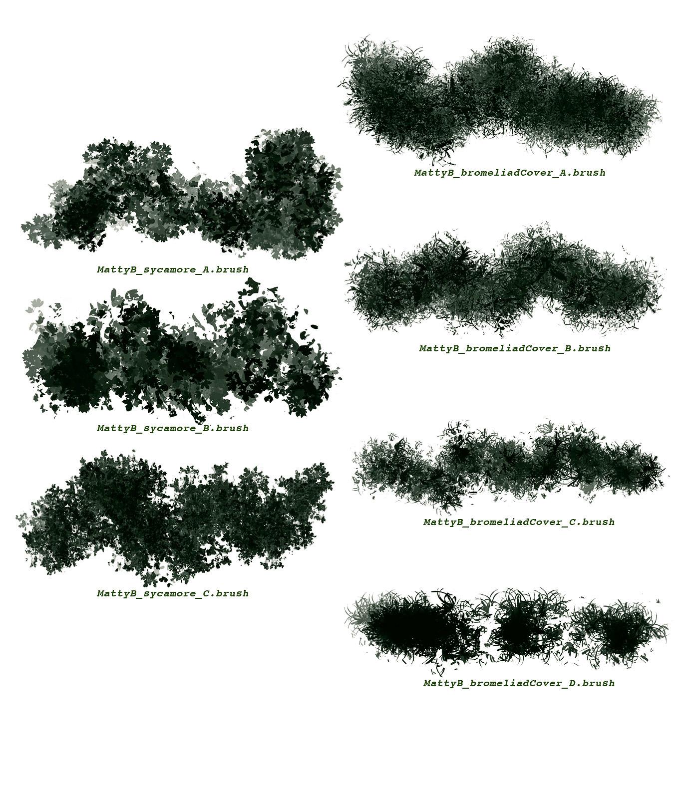 FLORA: Vegetation brushes for Procreate on Behance