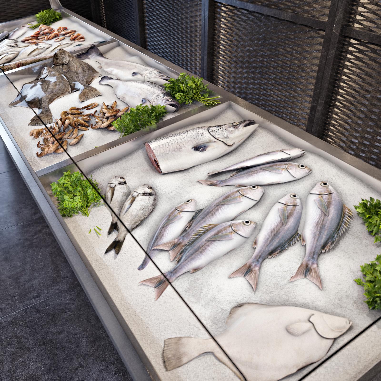 Оформление витрин с рыбой картинки