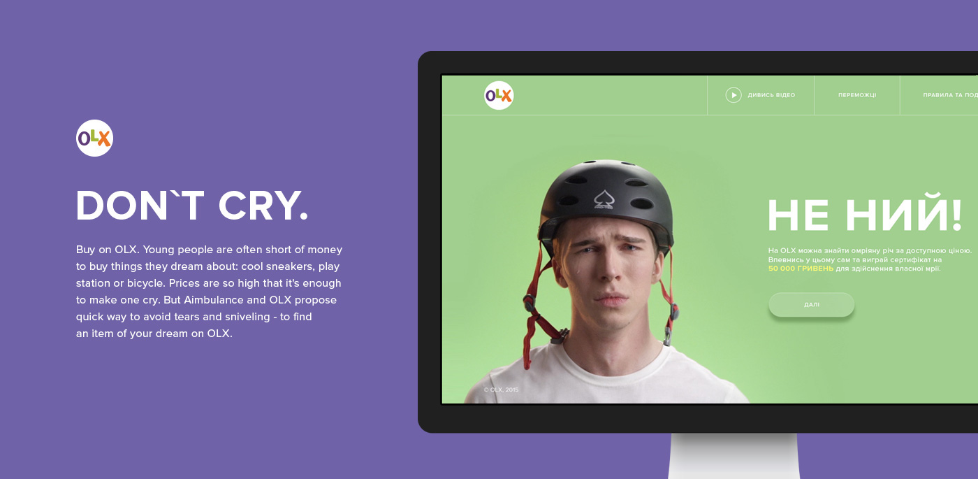 OLX Don't cry! on Behance
