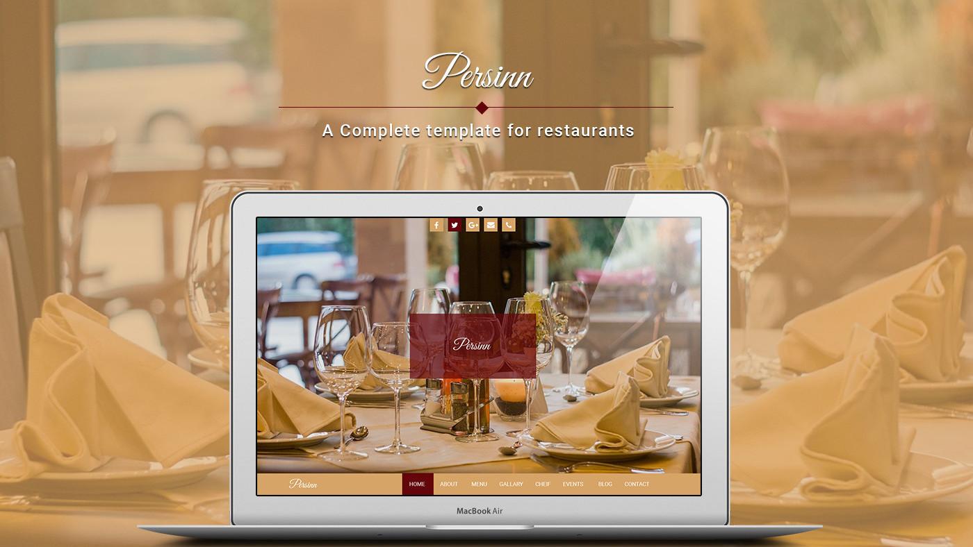Persinn A Complete Web Template For Restaurants On Behance