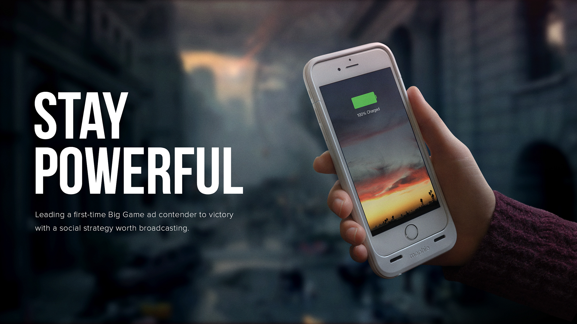 Mophie Stay Powerful On Behance Every day new 3d models from all over the world. mophie stay powerful on behance
