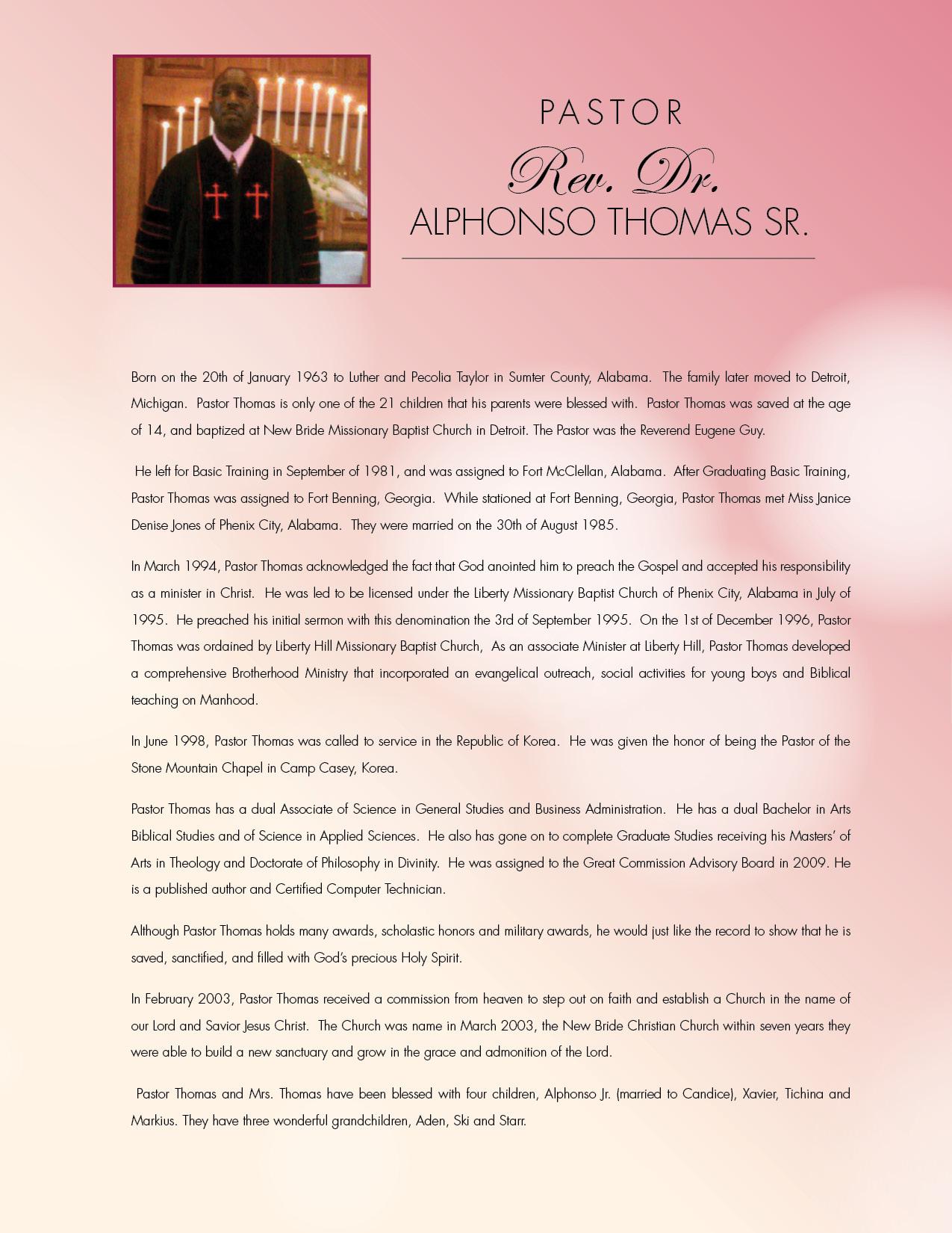 Jennifer Alberti Pastors Anniversary Program