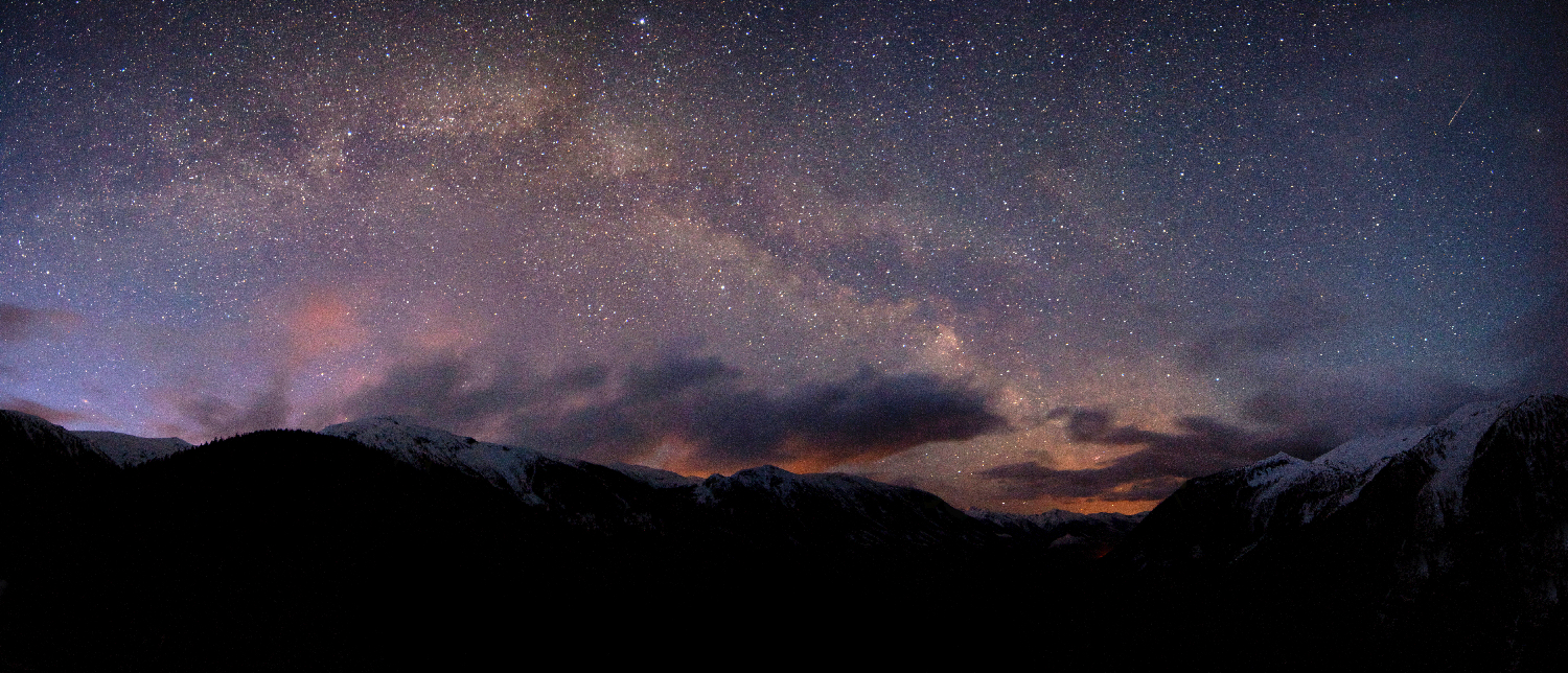 The Milky Way over the Shames Valley, Terrace, BC.