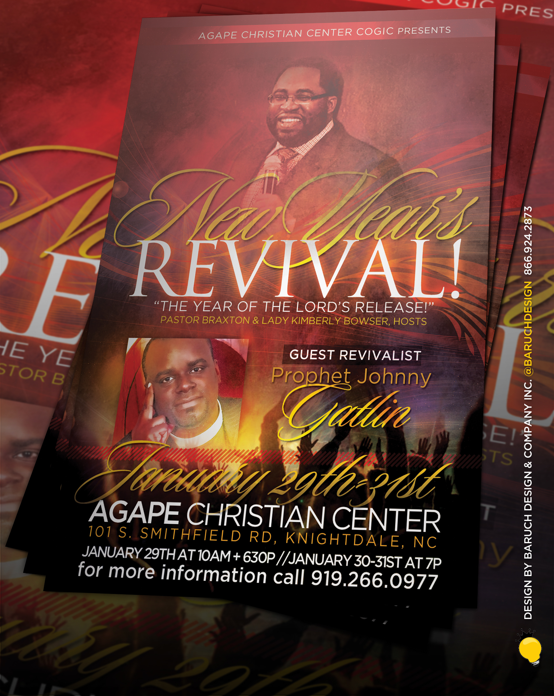 marcus coleman new year s revival flyer the year of release agape christian center cogic raleigh nc