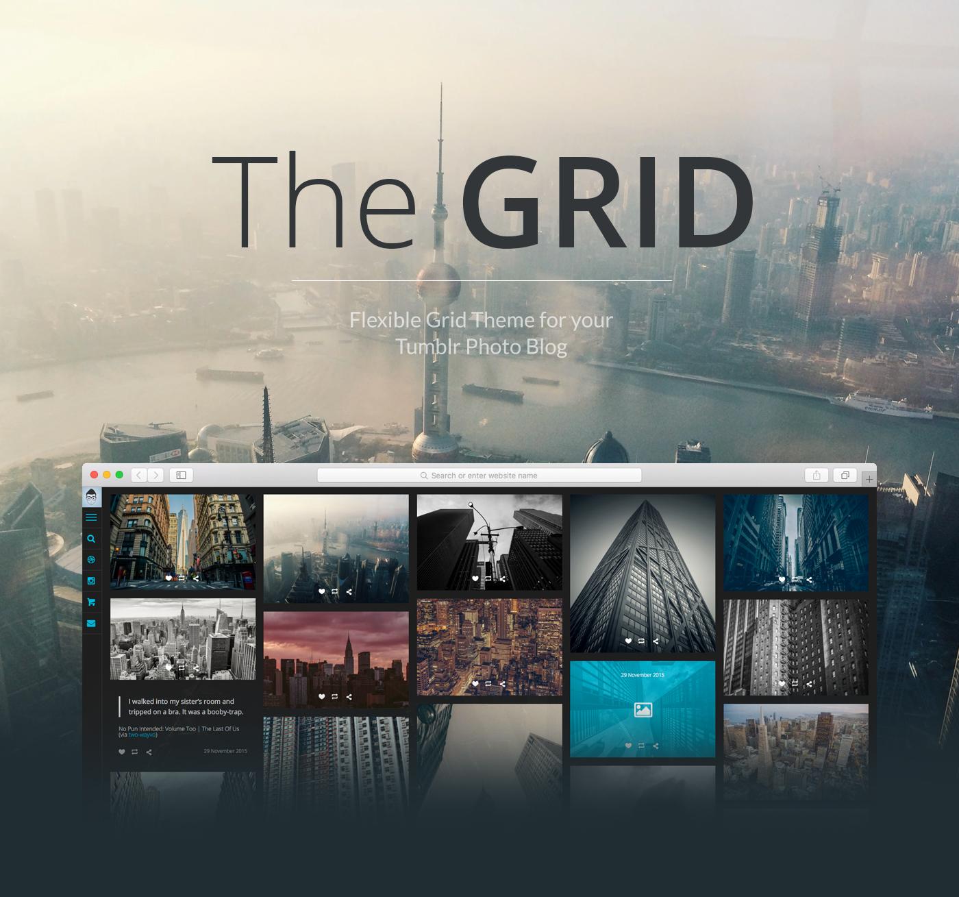 The GRID - Premium Tumblr Theme on Behance