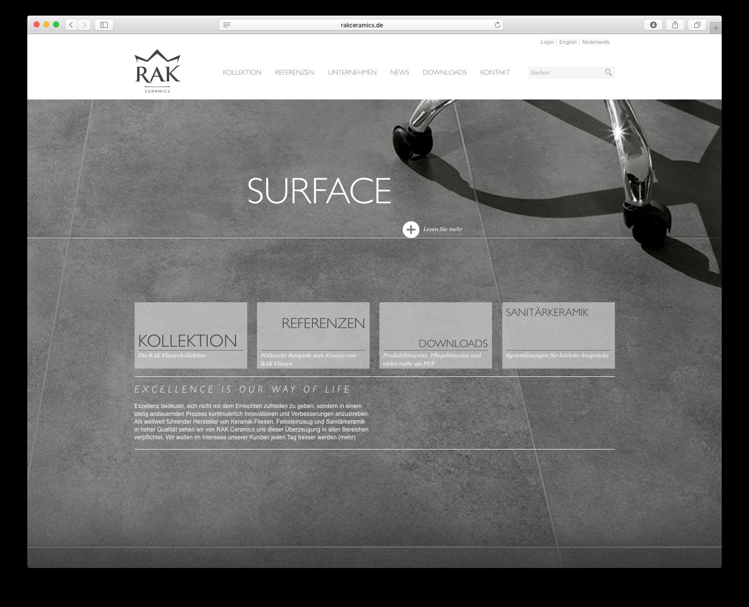Rak Fliesen rak ceramics website onlinekatalog on behance