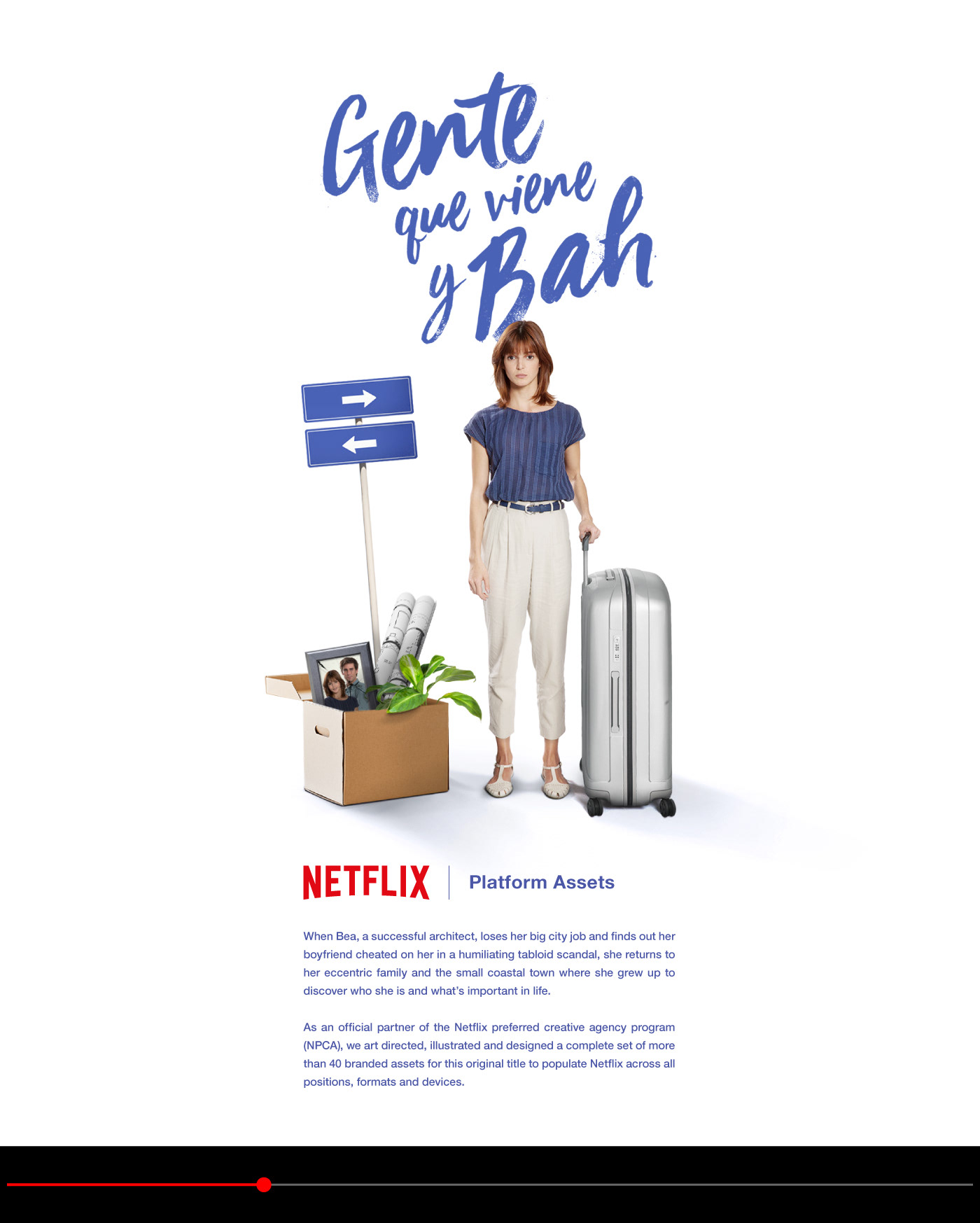 Netflix Gente Que Viene Y Bah Platform Art On Behance