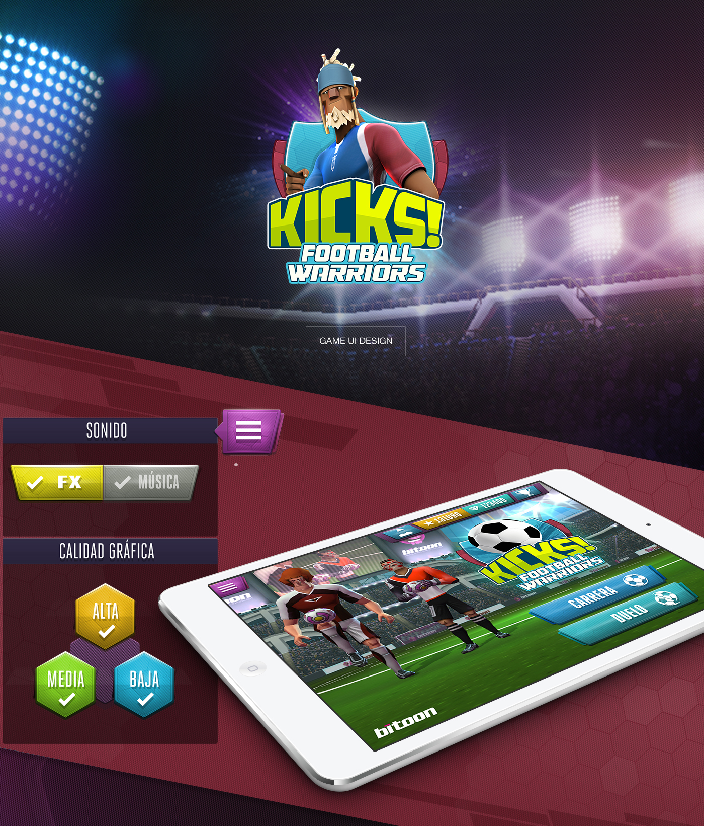 Kicks Football Warriors GAME UI DESIGN On Behance - Game ui design