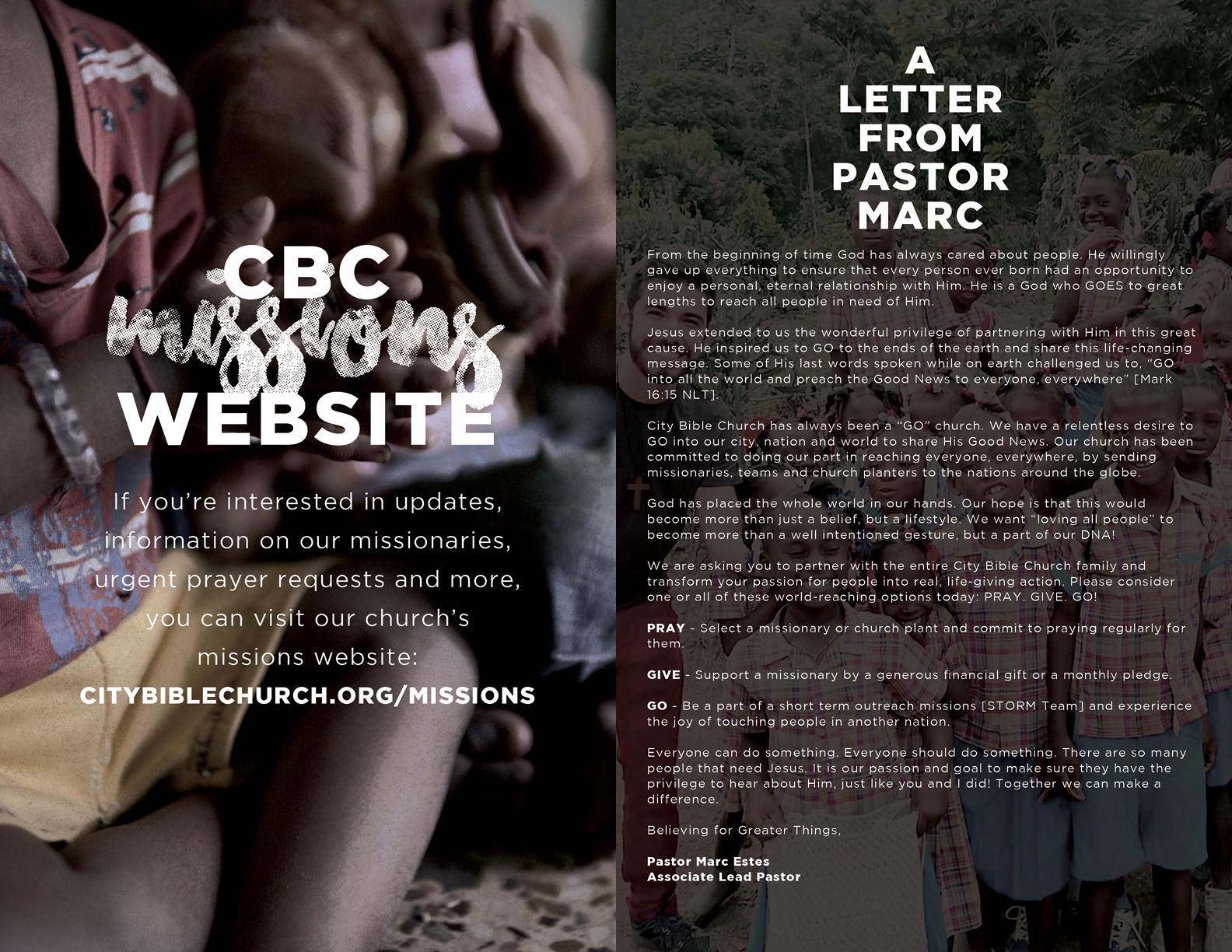 City Bible Church - World Sunday Booklet 2016 on Behance