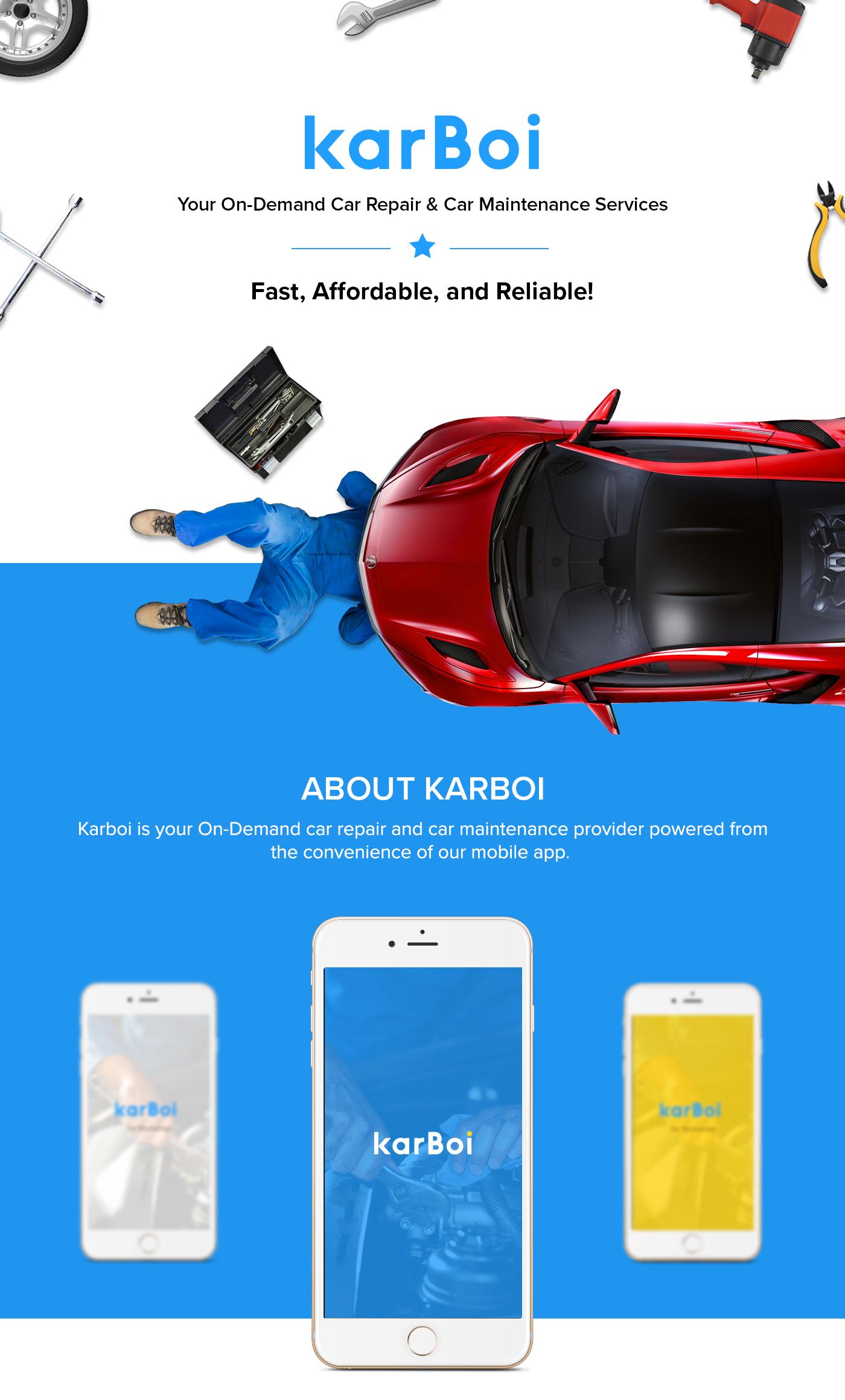 Karboi Mobile App For On Demand Car Repair Service On Behance