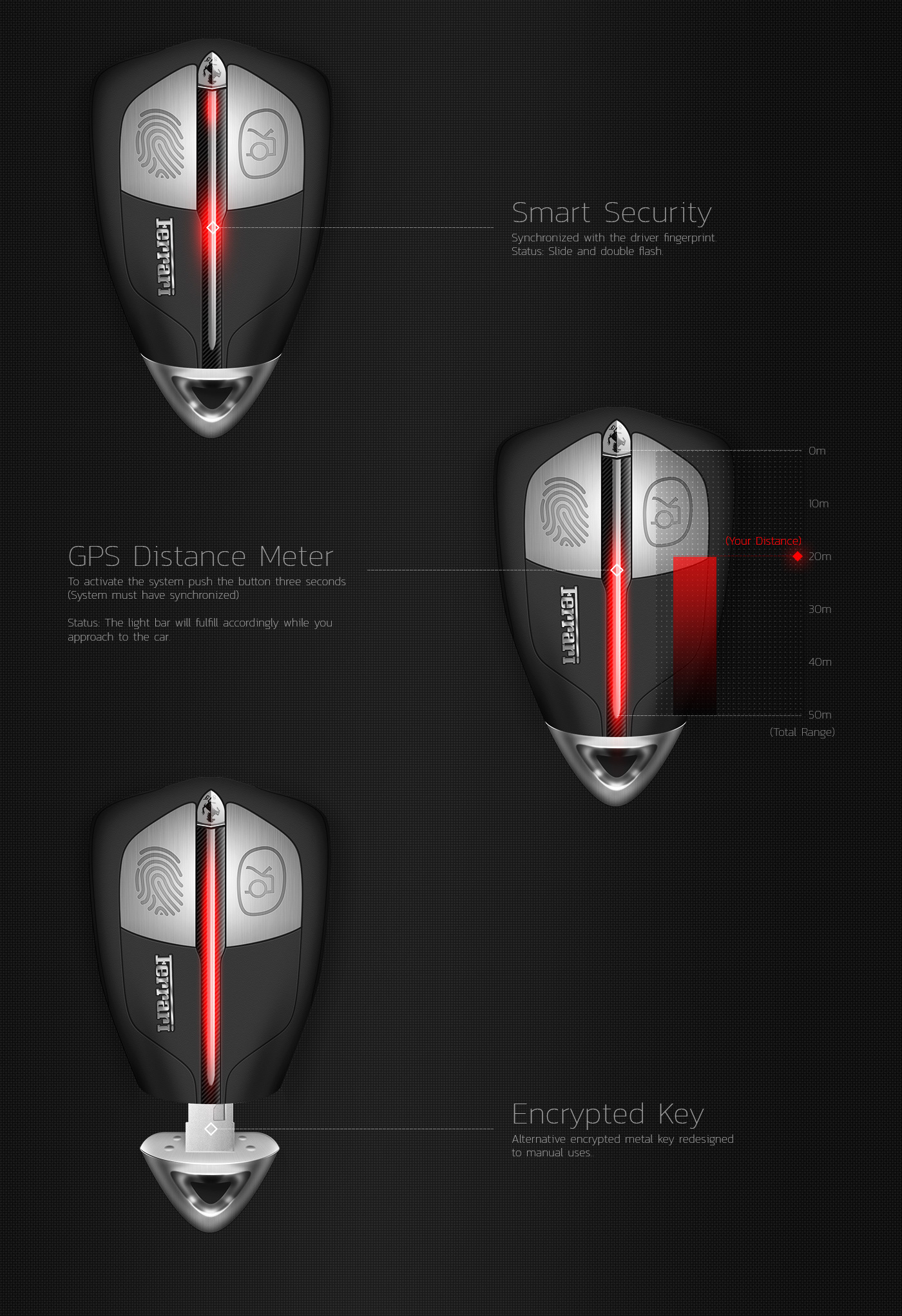 Ferrari Smart Key Concept Design On Behance