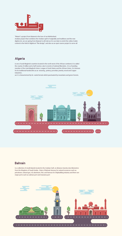 18 Free Arab countries illustrations