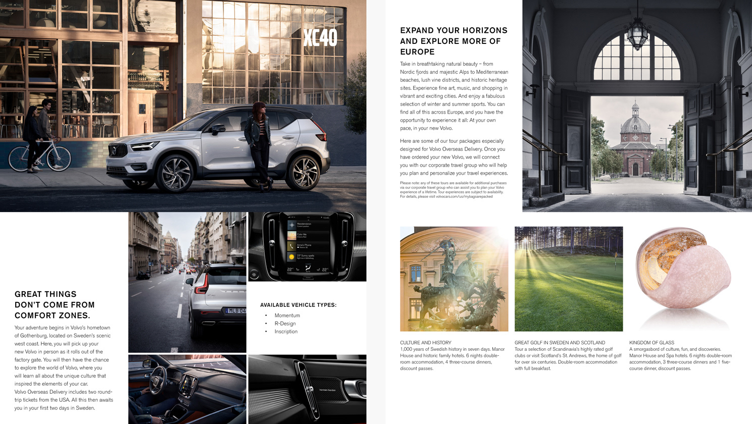 Volvo Overseas Delivery brochure packet on Behance