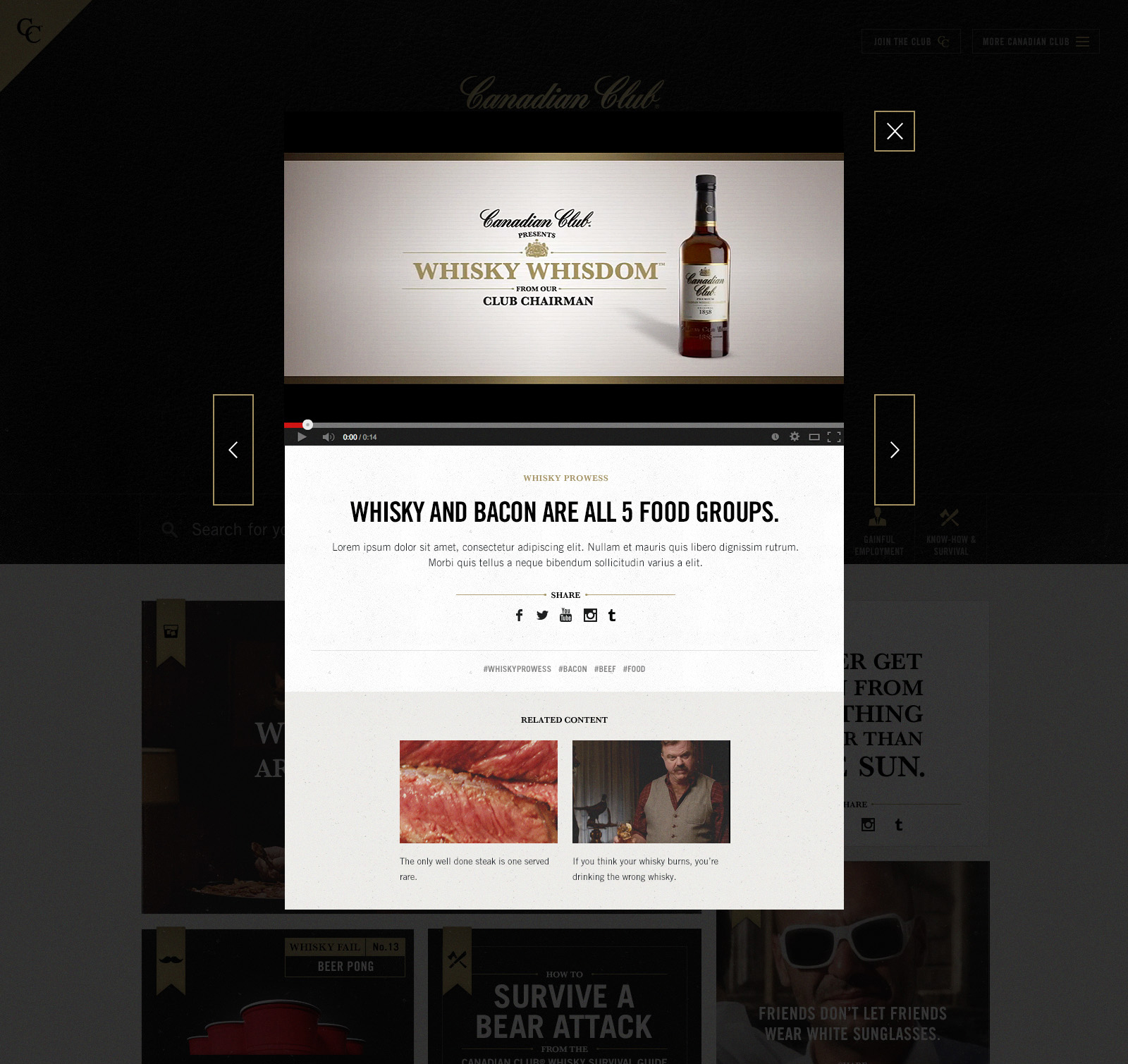 canadian club whisky marketing portfolio Canadian whisky categories were up 4% in september compared to previous year opportunities doubled their advertising budget from $25 million to $5 million between canadian club, polar ice, and lamb's rum.