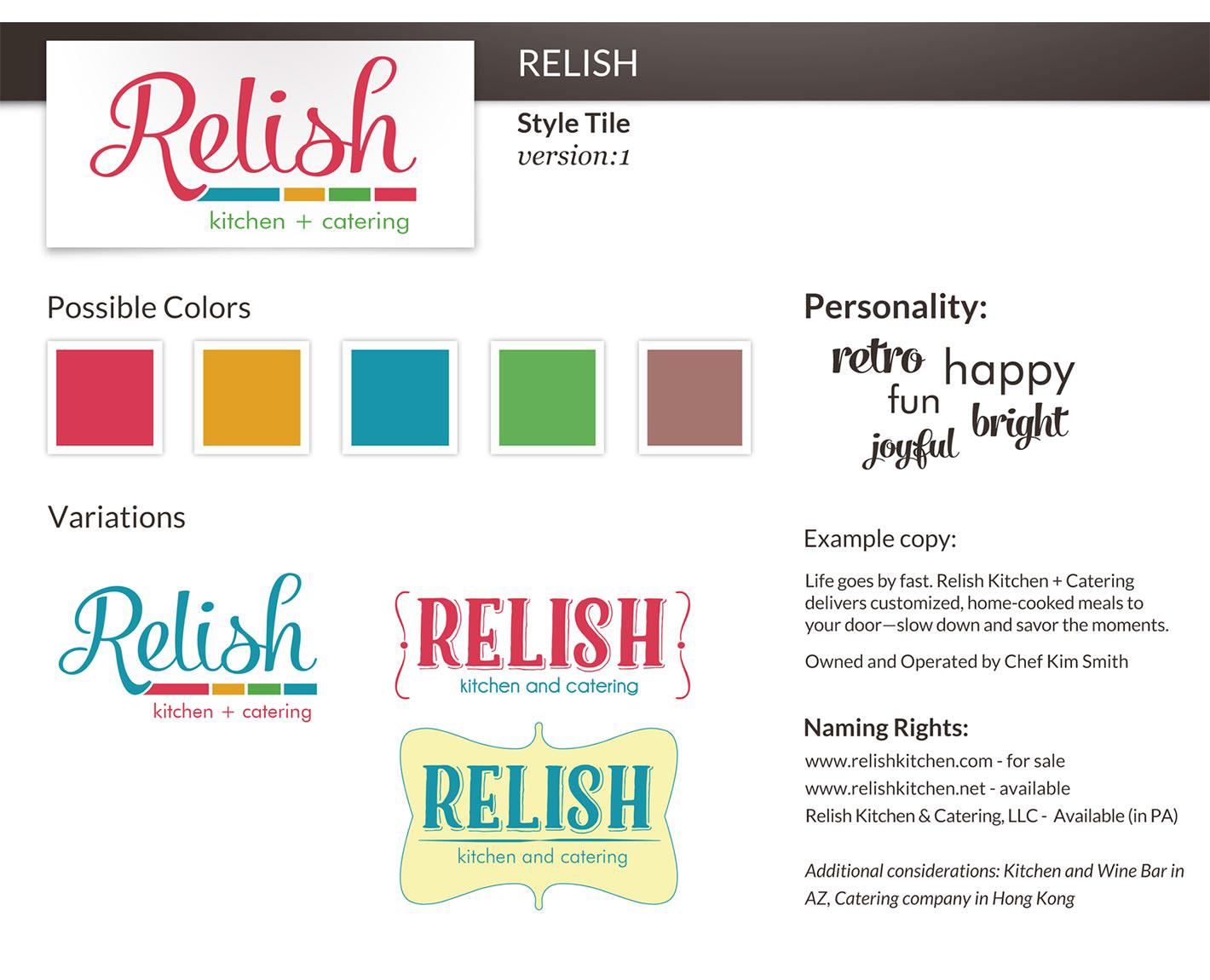 Relish Kitchen + Catering Branding on Behance