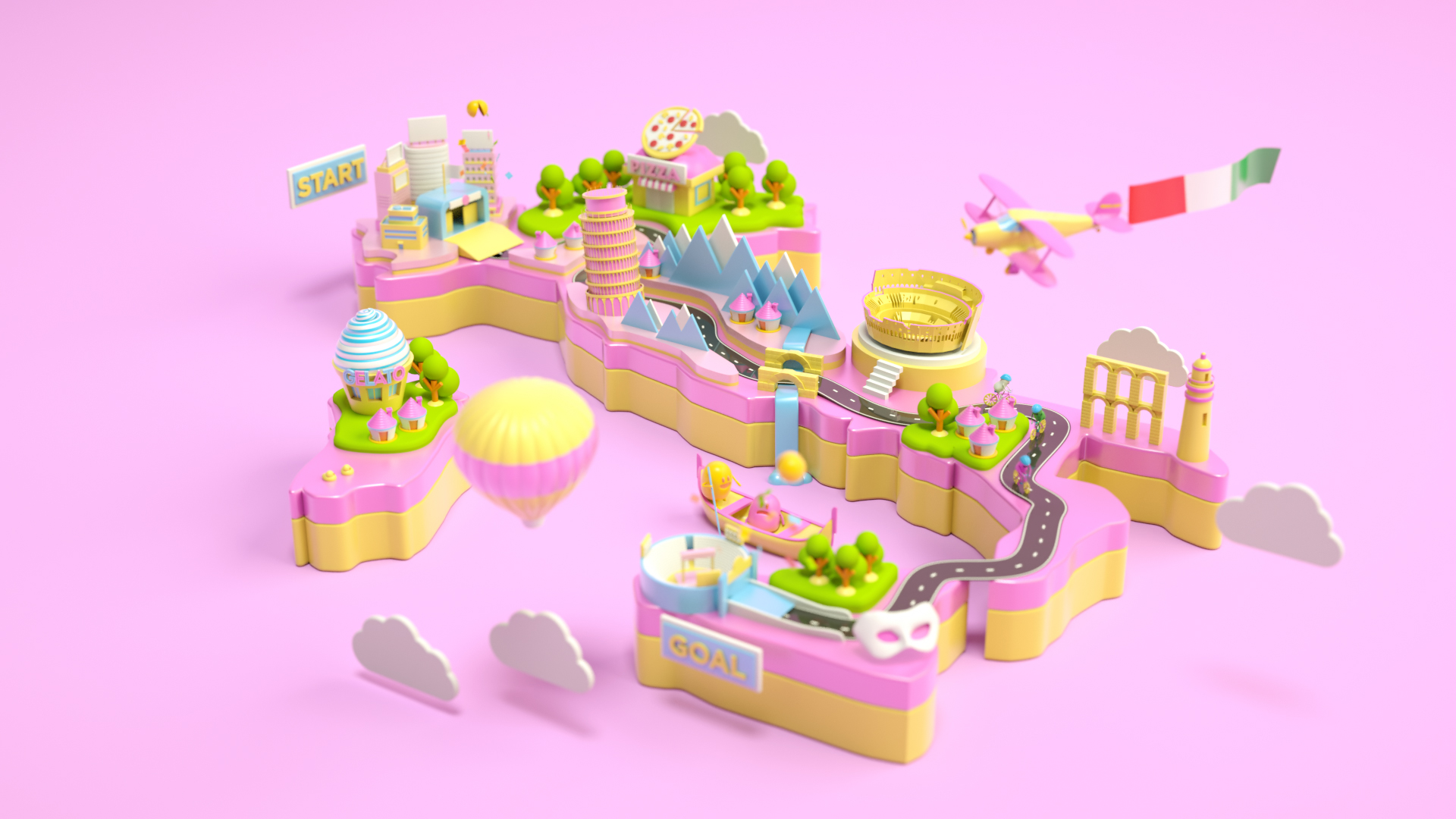 Illustration & Digital Art: 3D Works by Ryogo Toyoda