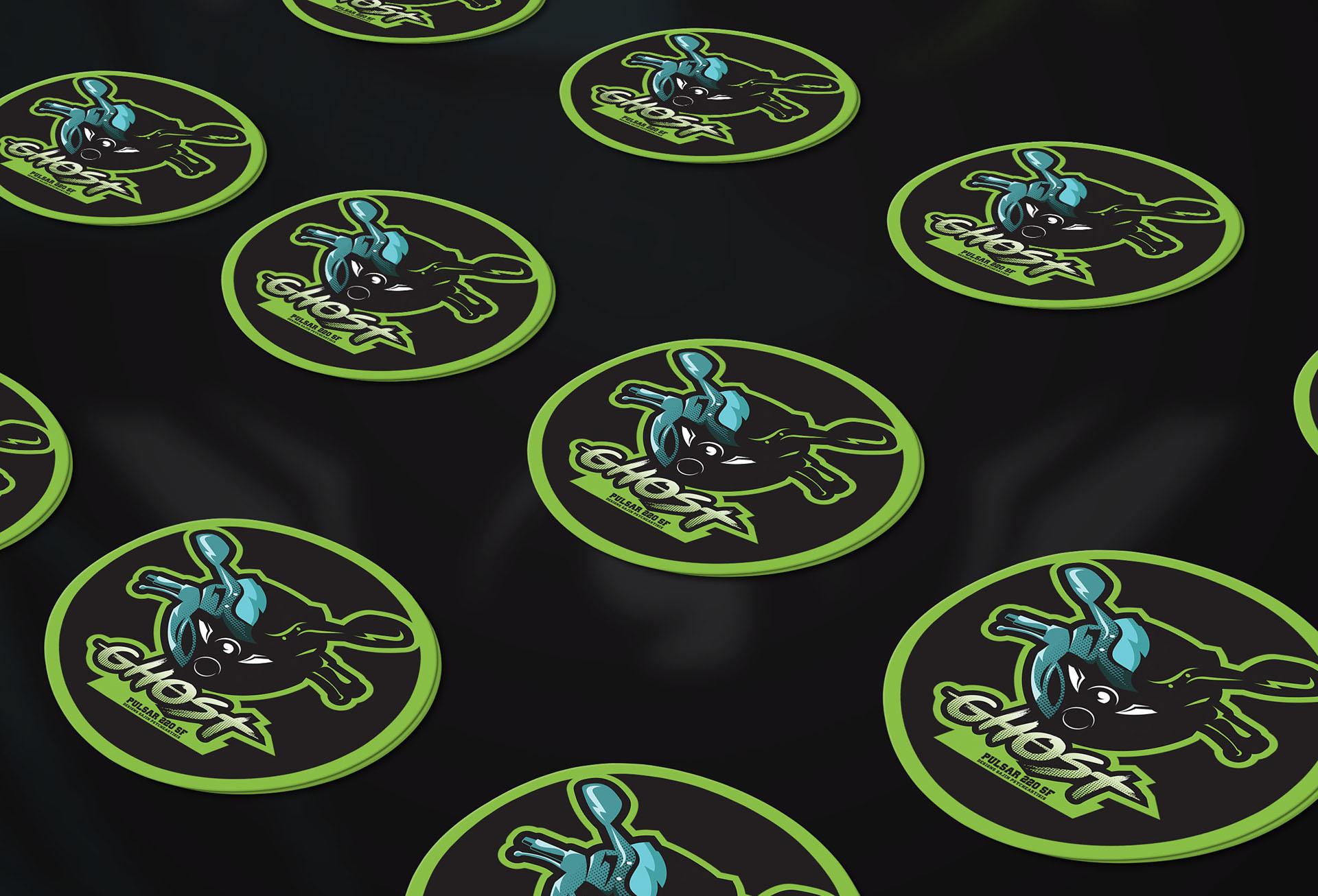 Ghost customized bike sticker design pulsar 220 sf on behance
