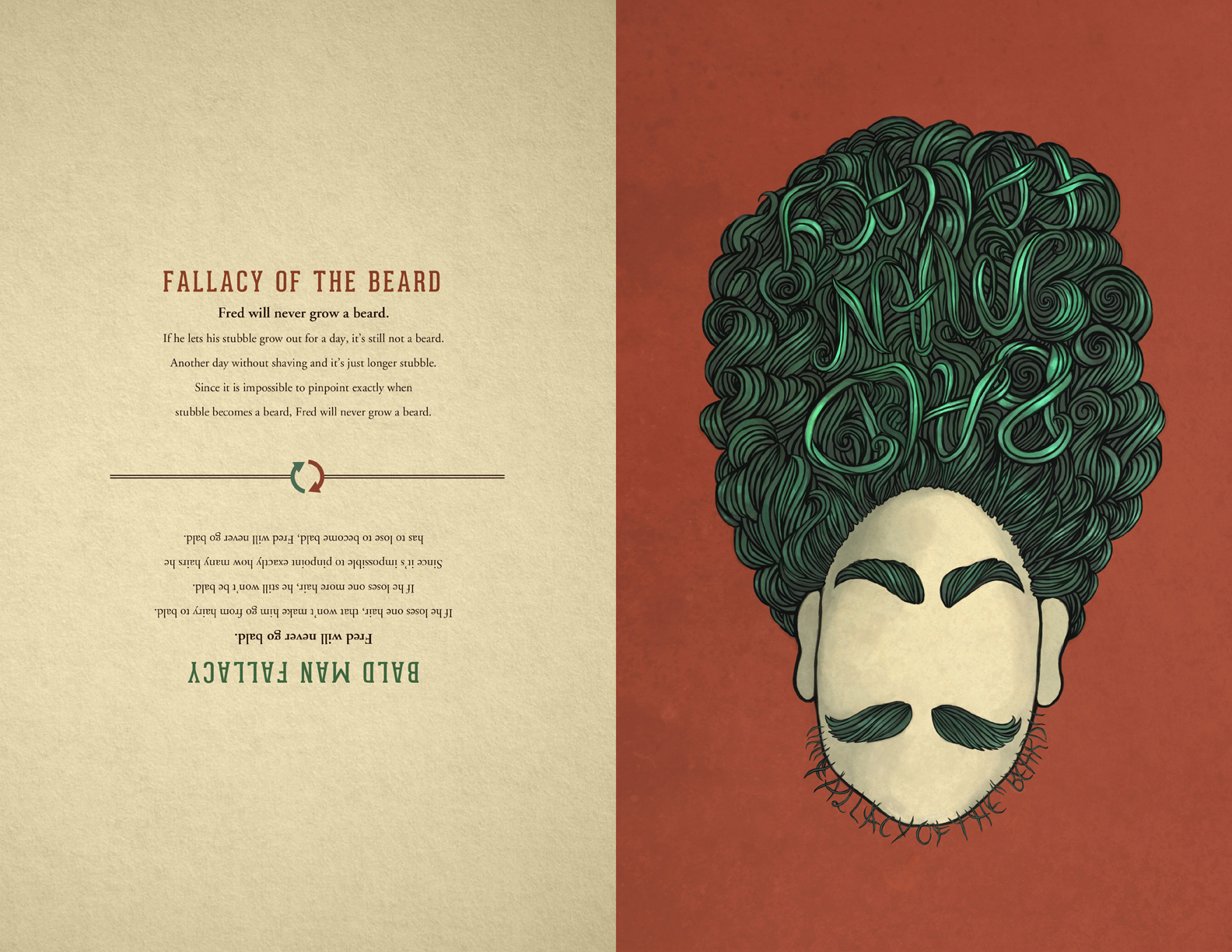 Super Student Work Logical Fallacy Posters On Behance Hairstyle Inspiration Daily Dogsangcom