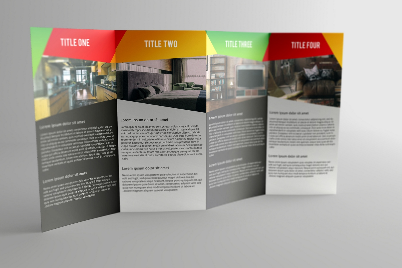 Double Gatefold Brochure Mock Up On Behance