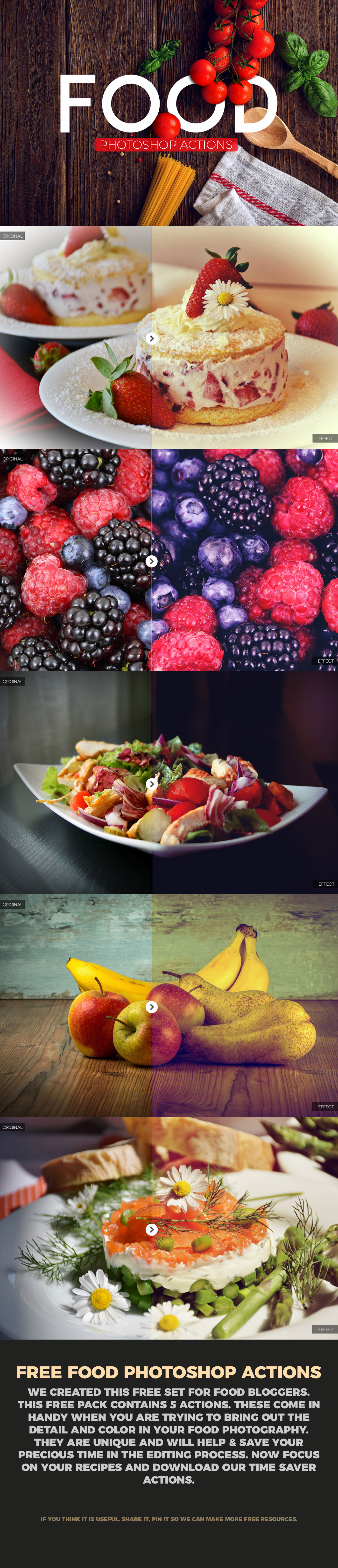 Free food photography photoshop actions on behance forumfinder Choice Image