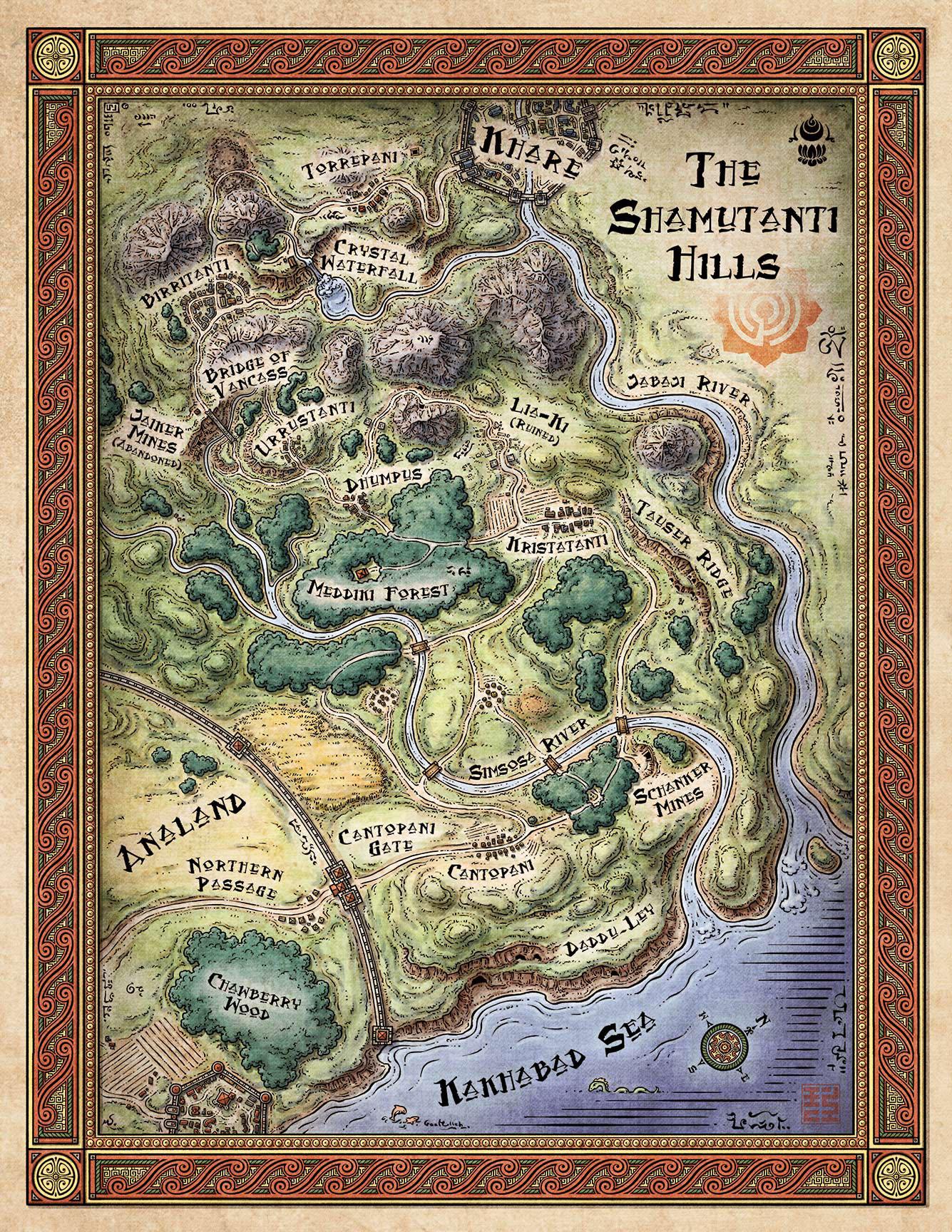 Shamutanti Hills Map