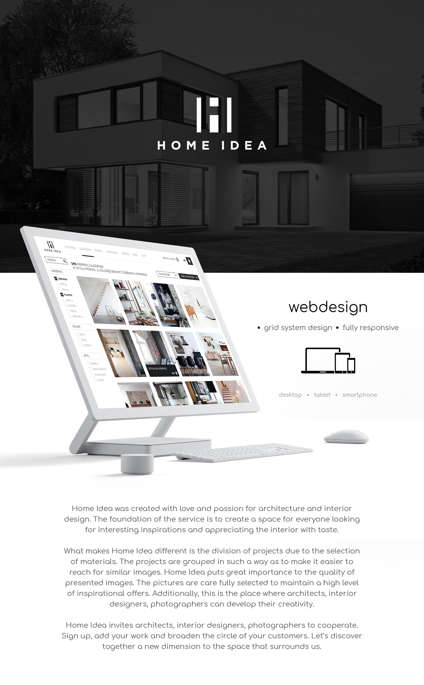 Home Idea Webdesign And Brand Identity On Behance