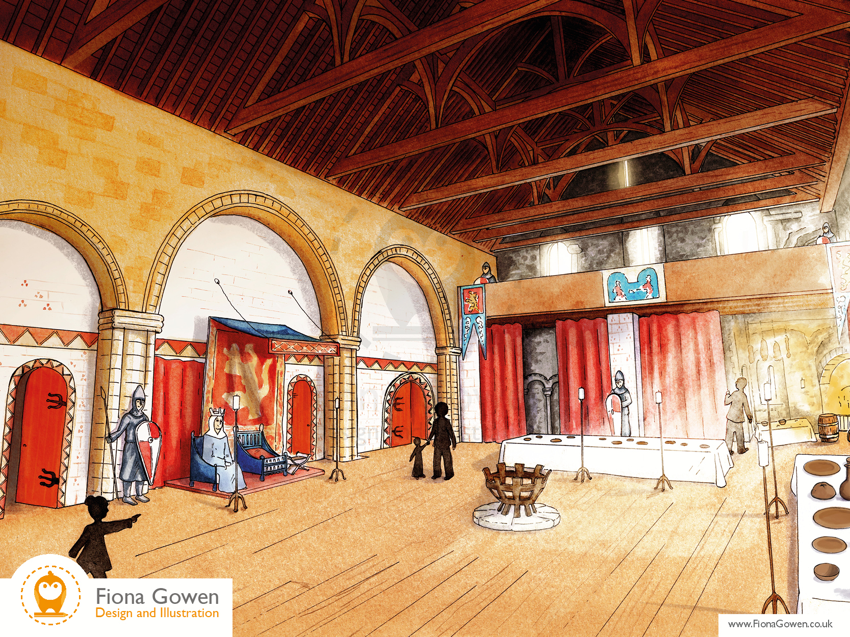 An Artists impression of the great Hall for the Norwich Castle Keep redevelopment project