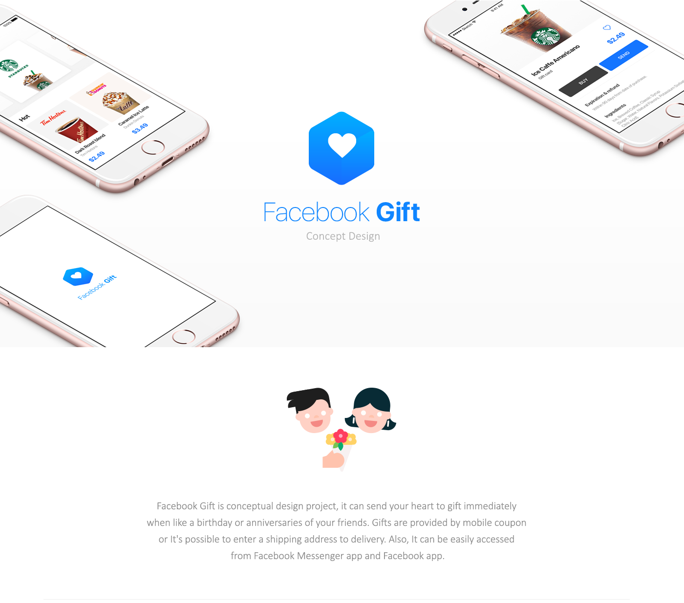 Facebook gift on behance facebook gift interaction demo negle Images