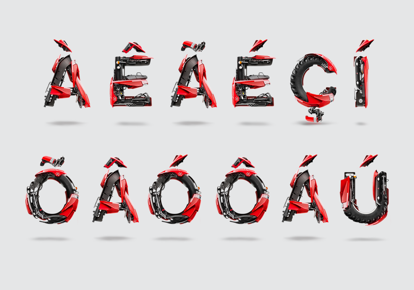 Uppercase Alphabet For Massey Ferguson On Behance