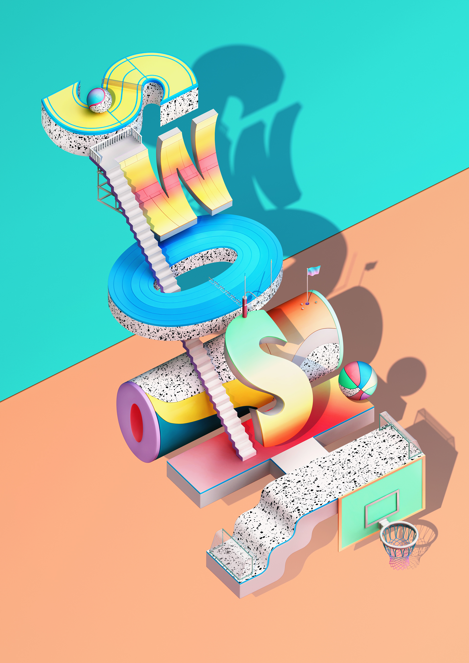 3D Type Collection 1 (2017) by ILOVEDUST