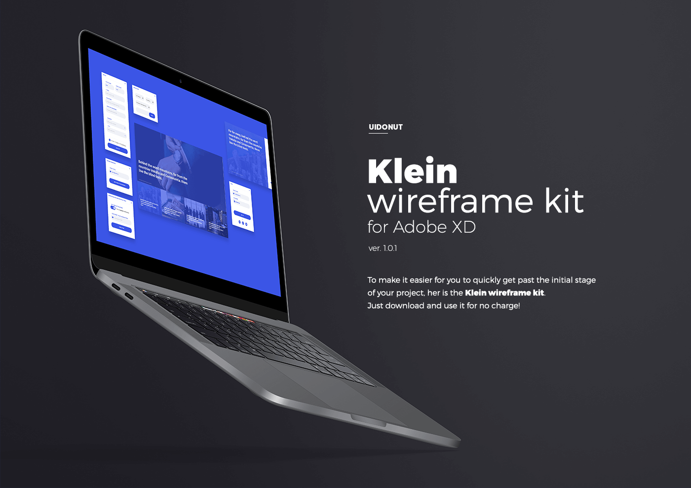 Klein wireframe kit for Adobe XD - Free on Behance