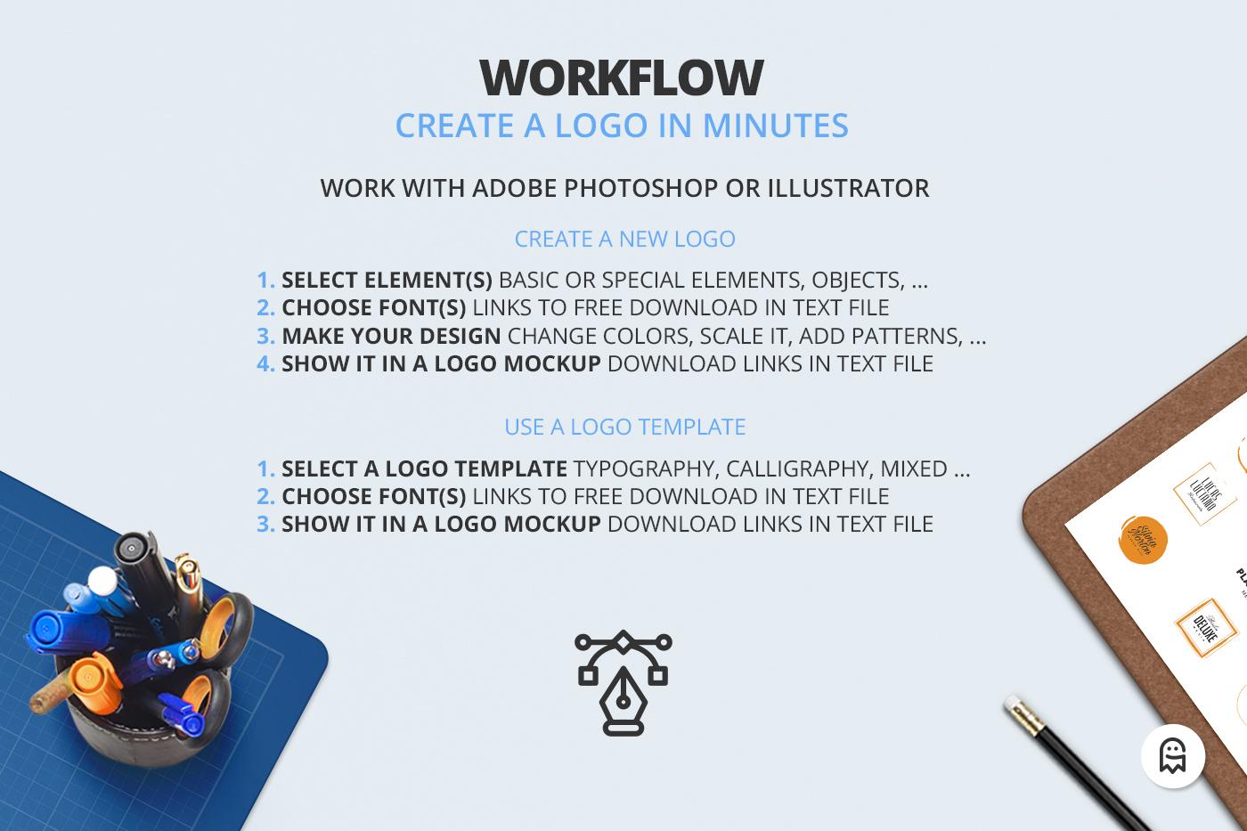 the professional logo creators kit on behance sample version