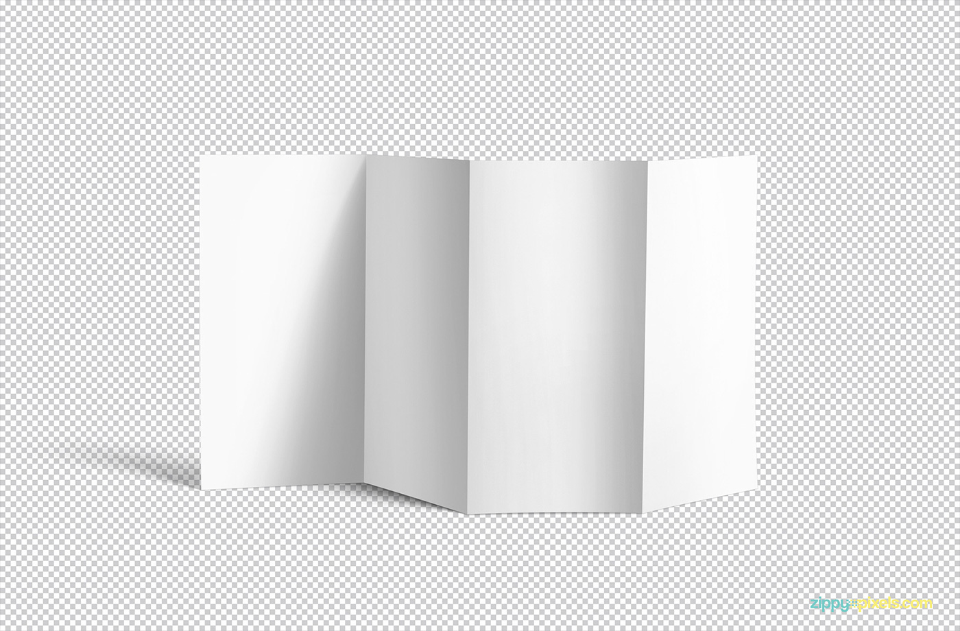 Please Click Here To Download This Free Brilliant 4 Fold Brochure Mockup