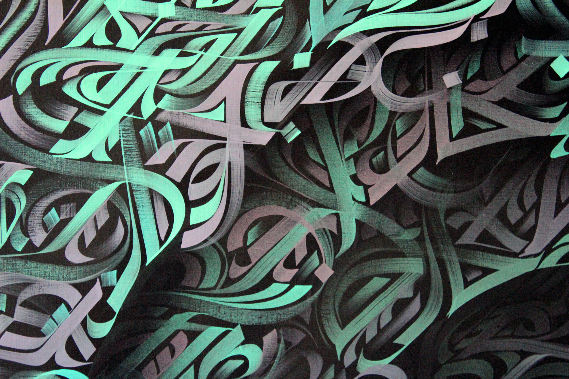 Breathtaking Canvas Abstract Calligraphy