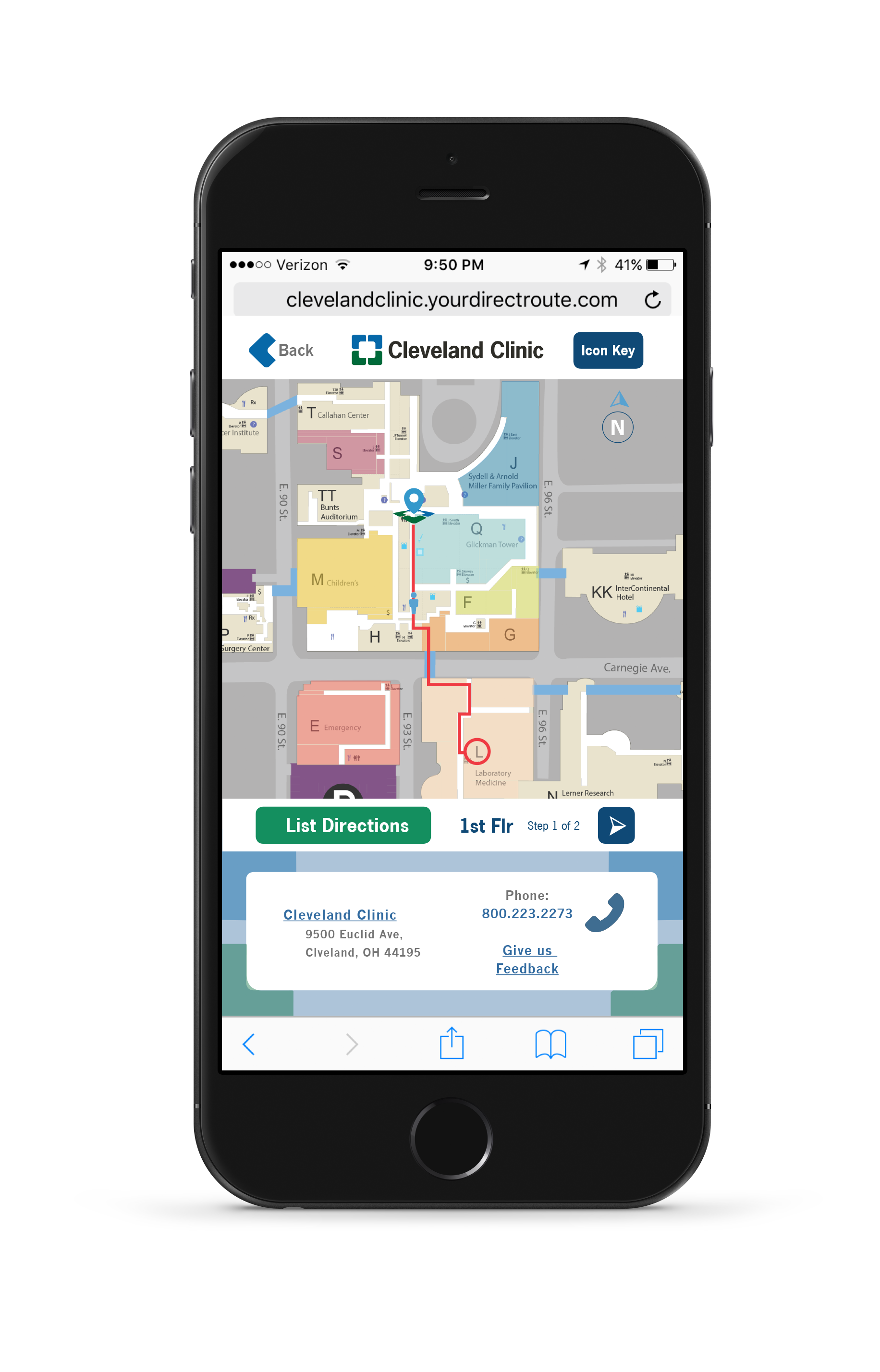 Cleveland Clinic Wayfinding Web App (Redesigned) on Behance