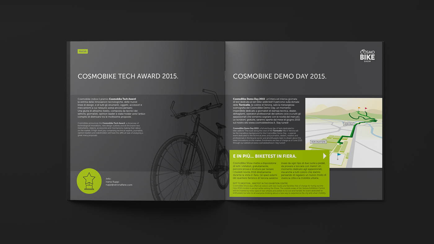 Sales folder and tickets // Cosmobike Show on Behance