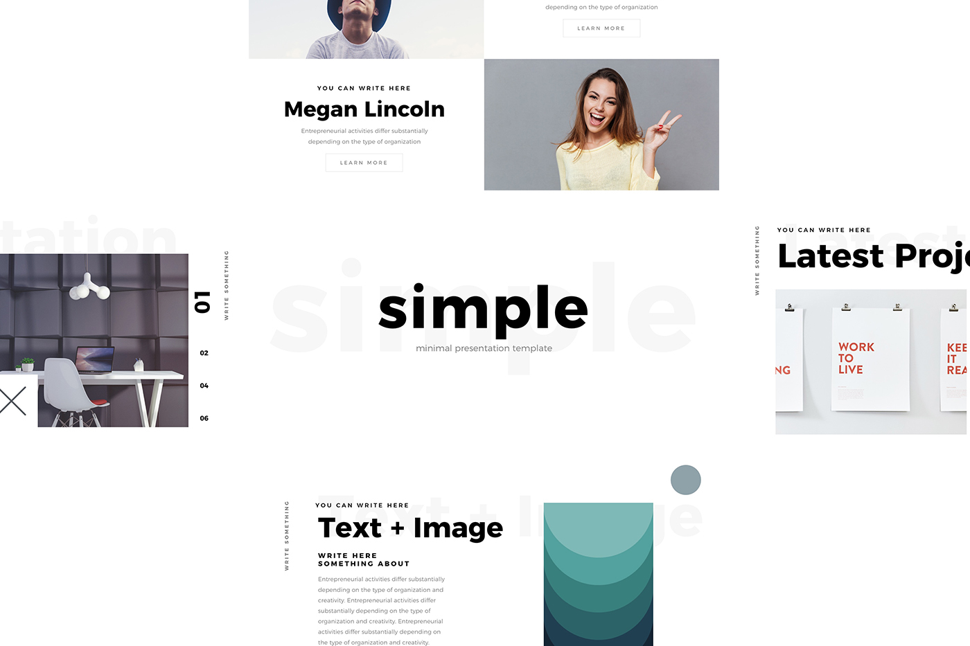 FREE Simple Minimal Keynote Template by Louis Twelve on Behance