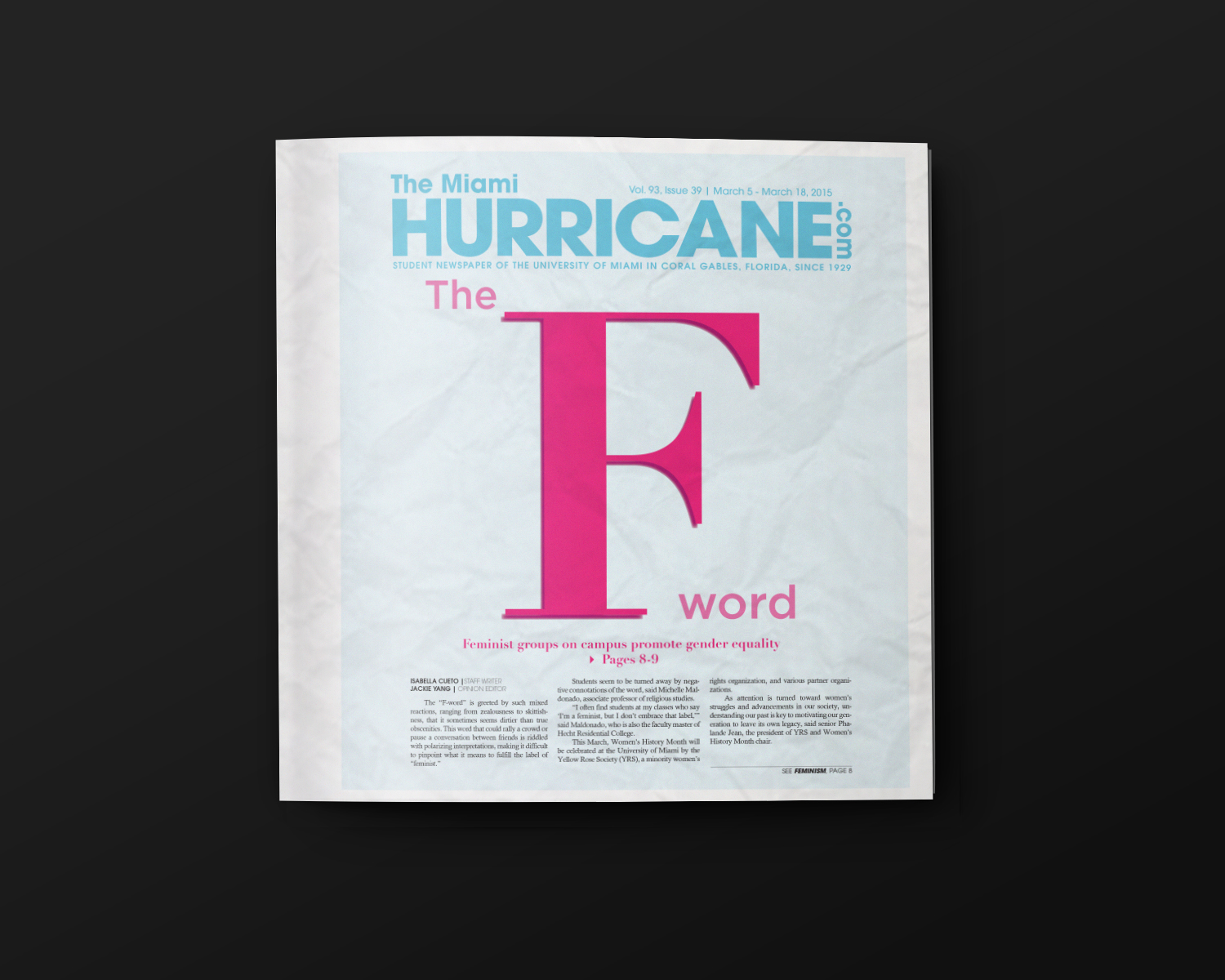 The Feminism Issue Tmh Editorial Design On Behance