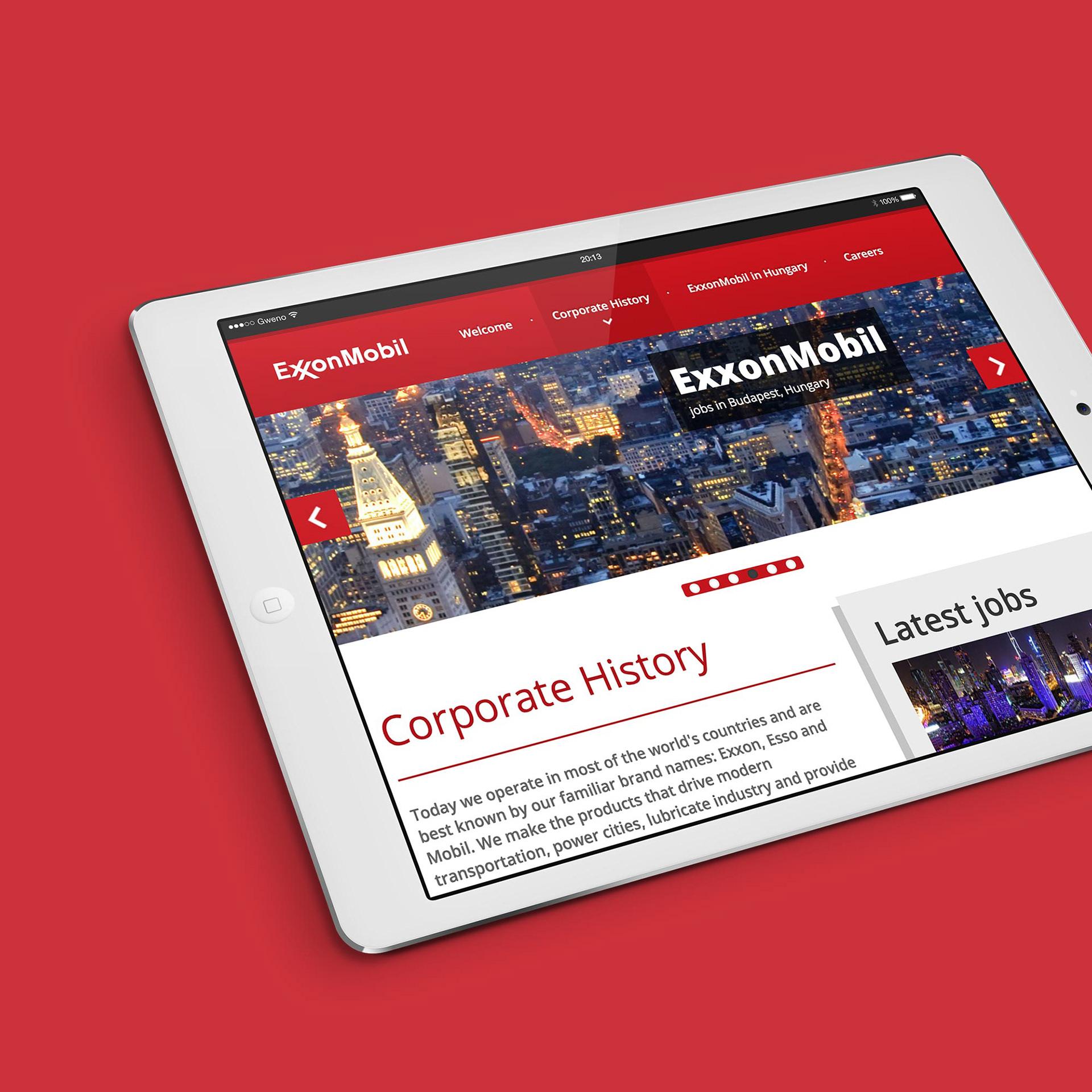 ExxonMobil Recruitment Microsite on Behance